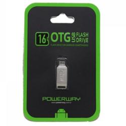 POWERWAY 16 GB MİCRO USB SAMSUNG 2.0 OTG METAL FLASH BELLEK