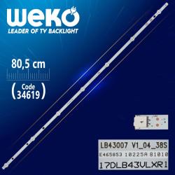 17DLB43VLXR1 -B- LB43007 V1_04_38S - 80.5 CM 7 LEDLİ - (WK-403)