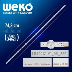 17DLB40VXR1 - LB40017 V1_05_38S - B TYPE 74.8 CM 7 LEDLİ - (WK-111)