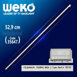 17ELB48ULR4 7020PKG 66EA L-TYPE REV0.4 - 52.9 CM 66 LEDLİ - (WK-1133)