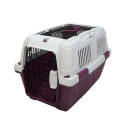 Strong CD4 Üstten Açılabilir Kedi-Köpek Taşıma Çantası Bordo 63x41x40cm